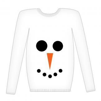 Halloween sweatshirt snowman costume