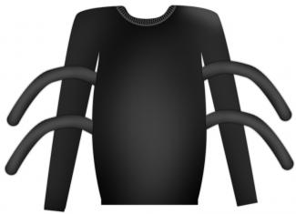 Halloween sweatshirt spider costume