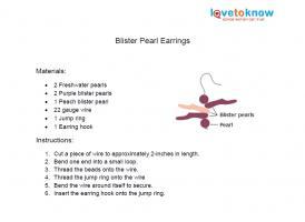 Blister pearl earring pattern