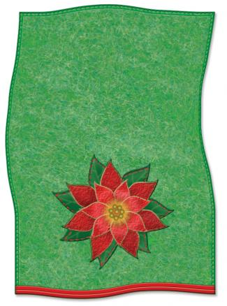 Christmas applique dish towel