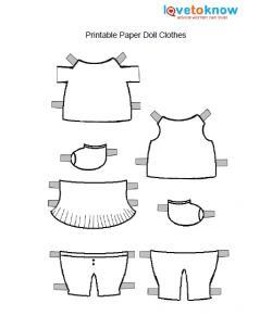 Printable paper dolls and clothes lovetoknow paper doll clothes pronofoot35fo Images
