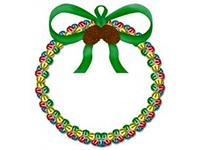 Jingle bell holiday door wreath