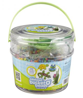 perler beads rain forest bucket