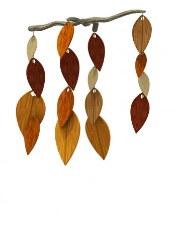 wooden leaf mobile