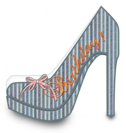 Free card making templates lovetoknow for High heel shoe template craft