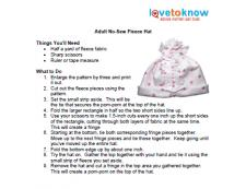 adult hat instructions