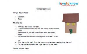 printable Christmas house