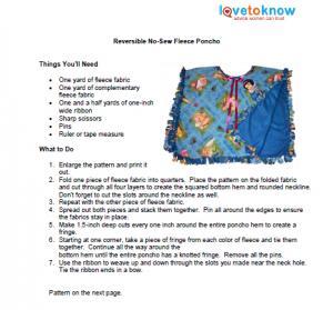 No Sew Fleece Poncho | LoveToKnow