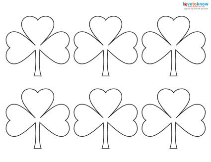 picture about Shamrock Template Printable called Practice for a Shamrock LoveToKnow