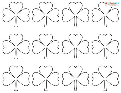 image about Shamrock Template Printable referred to as Behavior for a Shamrock LoveToKnow