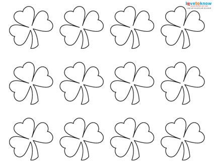 photograph about Shamrock Stencil Printable named Habit for a Shamrock LoveToKnow