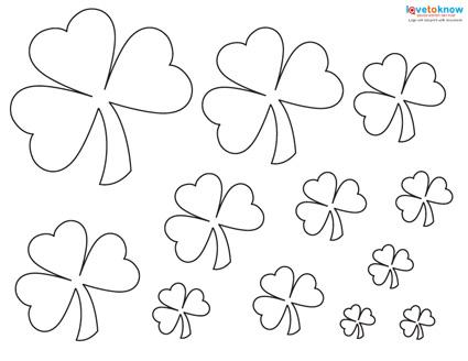 picture about Shamrock Stencil Printable known as Practice for a Shamrock LoveToKnow