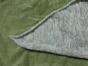 knitting before blocking