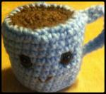 Amigurumi coffee cup