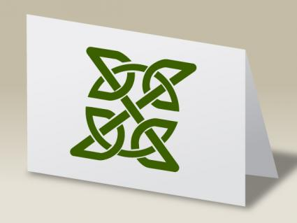 Celtic Knot notecard craft