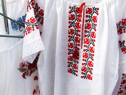 cross-stitched shirts