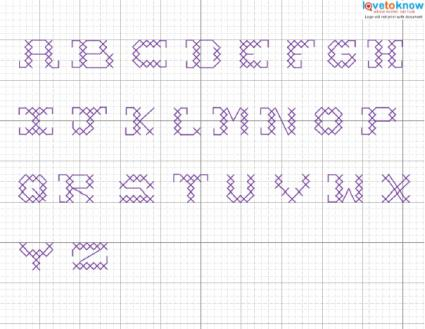 Free Patterns For Counted Cross Stitch Alphabet Lovetoknow