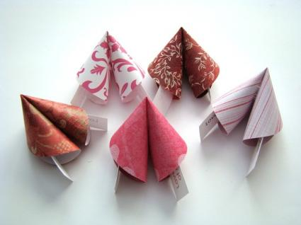 Origami fortune cookies by OrigamiDelights on Etsy