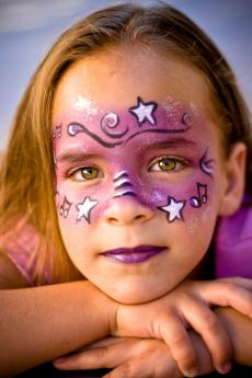 Stars face paint
