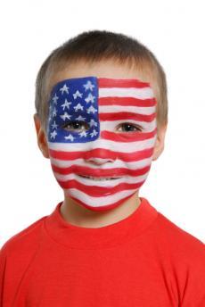 Flag face paint