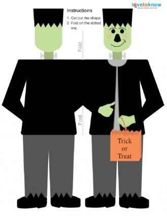 printable Halloween card with Frankenstein