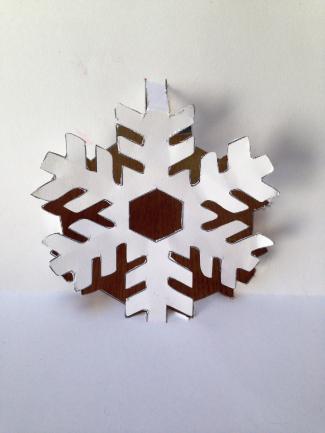 Cut snowflake