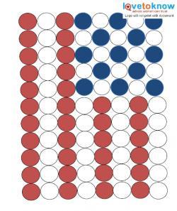 American flag puff craft