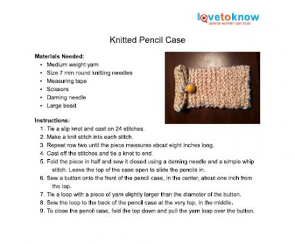 knitted pencil case