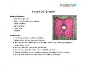 Easy Cuff Bracelet Pattern