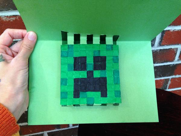minecraft creeper card