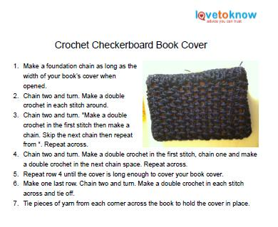 Crochet book cover 1