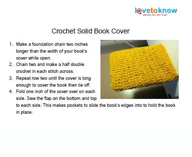 Crochet book cover 3