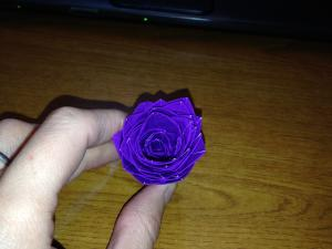 Duct tape flower