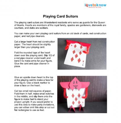 playing card suitors printable