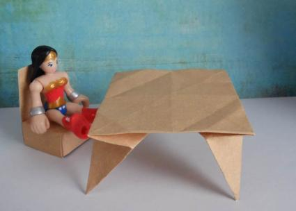 paper dollhouse table and chair
