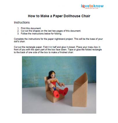 printable paper dollhouse chair