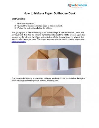 paper dollhouse desk printable