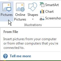 insert pictures in word processor