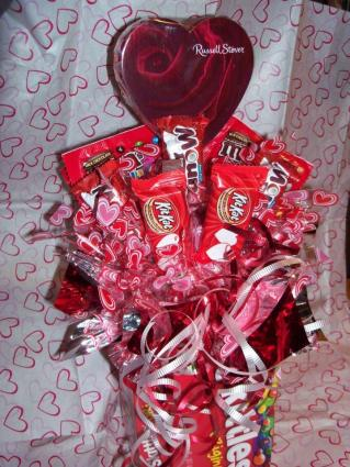 candy bouquet with box container