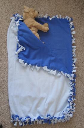 finished sleeping bag
