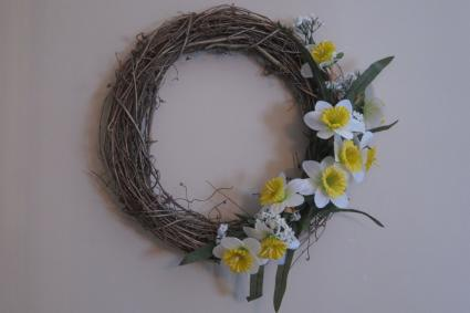 spring seasonal wreath
