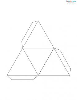 paper pyramid with a triangle base