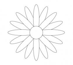 Black and white printable flower