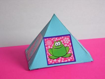 paper pyramid gift box