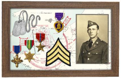shadow box to honor veterans