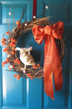 fall owl wreath