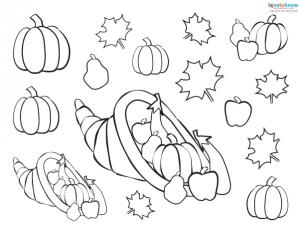 Preschool Thanksgiving Crafts placemat pieces 1 bw