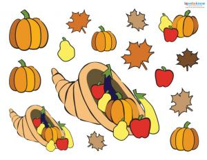 Preschool Thanksgiving Crafts placemat pieces 1