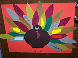 Thankful turkey from preschool-learning-and-crafts.com