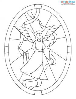 image about Free Printable Stained Glass Patterns named Free of charge Stained Gl Models LoveToKnow